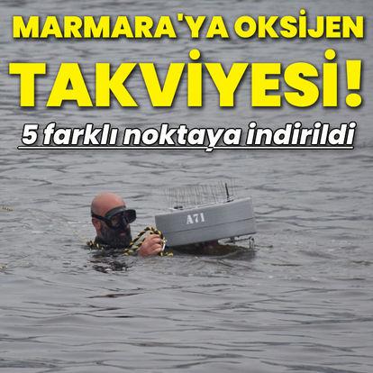 Marmara Denizi'ne oksijen takviyesi