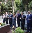 Galatasaray Kulübünün yeni başkanı Burak Elmas, Ali Sami Yen ve Metin Oktay