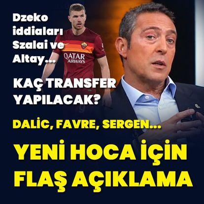 Ali Koç'tan teknik direktör açıklaması!