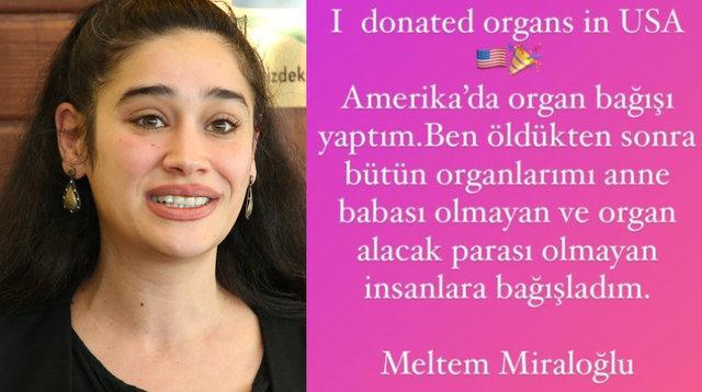 Meltem Miraloğlu: Amerika'da organ bağışı yaptım - Magazin haberleri