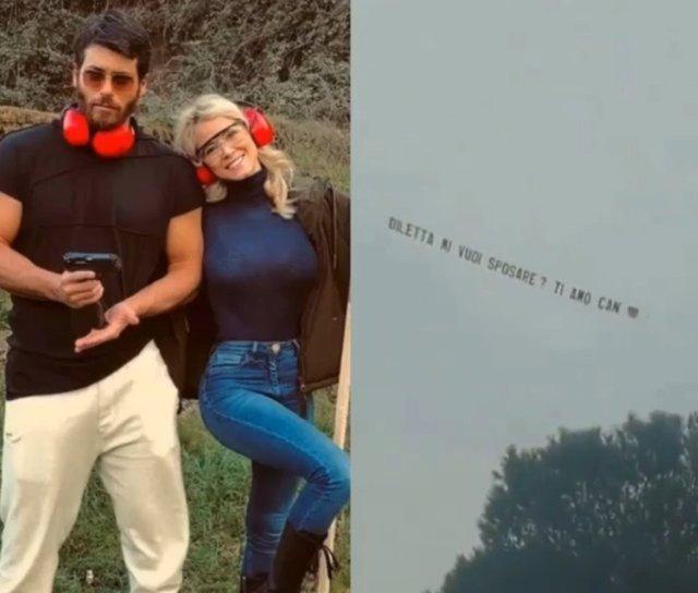 Son dakika magazin haberleri! Can Yaman Diletta Leotta aşkı tam gaz! Ailesiyle tanıştırdı