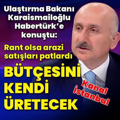 Bakan Karaismailoğlu Habertürk TV'de soruları yanıtladı
