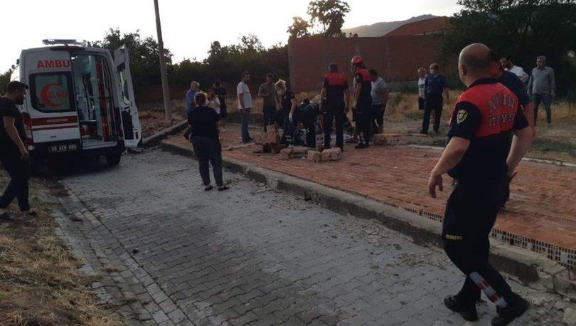 Aydın'da fırtınanın yıktığı duvarın altında kalan kadın öldü