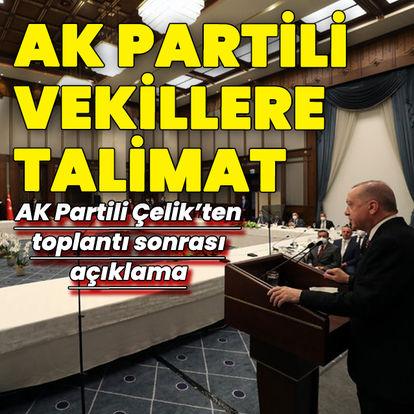 Cumhurbaşkanı Erdoğan'dan milletvekillerine talimat