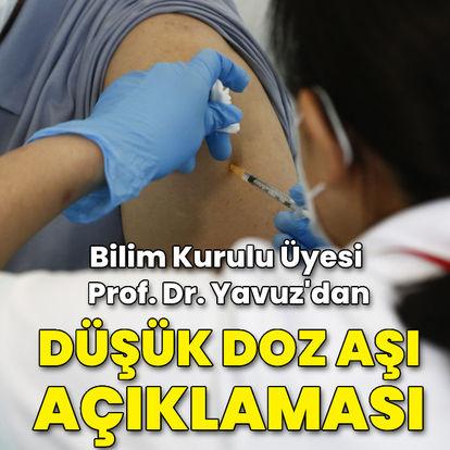 Bilim Kurulu Üyesinden düşük doz aşı açıklaması!