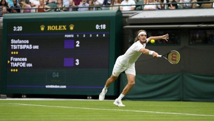Wimbledon'da Tsitsipas'a şok!