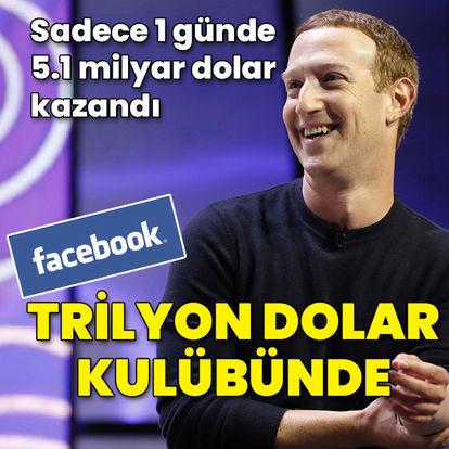 Facebook trilyon dolar kulübünde