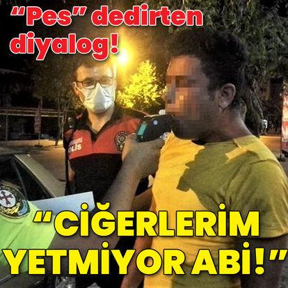 """Polisin alkollü sürücüyle imtihanı! """"Ciğerlerim yetmiyor abi!"""""""