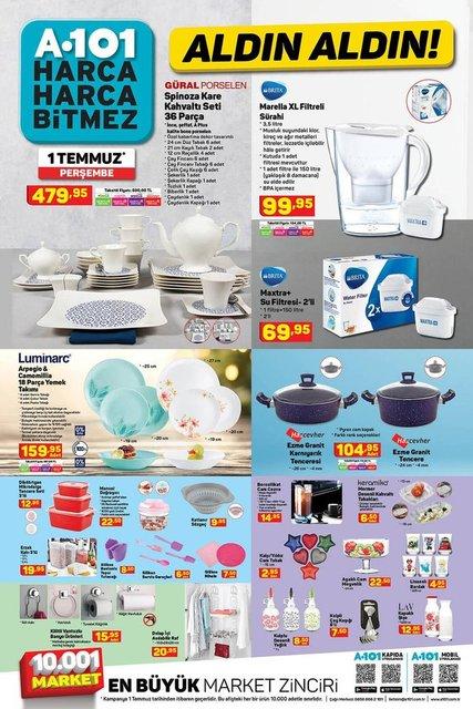 A101 1 Temmuz 2021 aktüel ürünler kataloğu! A101 haftanın indirimli ürünler listesi burada