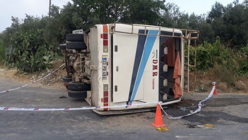 Son dakika: Tarsus'ta tarım işçileri kaza yaptı! 1 ölü, 16 yaralı