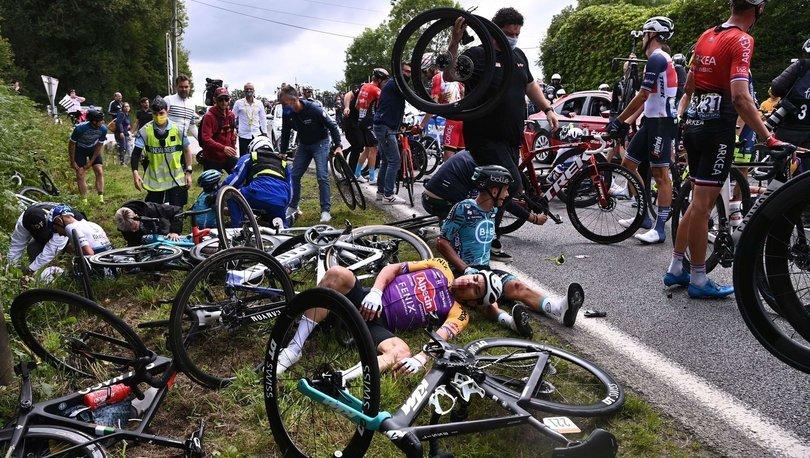 Açtığı pankartla bisikletçilerin düşmesine yol açan seyirci, savcıya ifade verdi