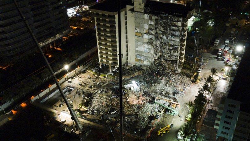 Miami'de çöken 13 katlı binada ölenlerin sayısı 20'ye çıktı