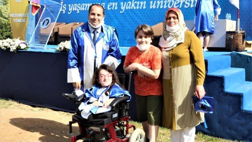Cam kemik hastalığına rağmen çift ana dal yaparak mezun oldu - Haberler