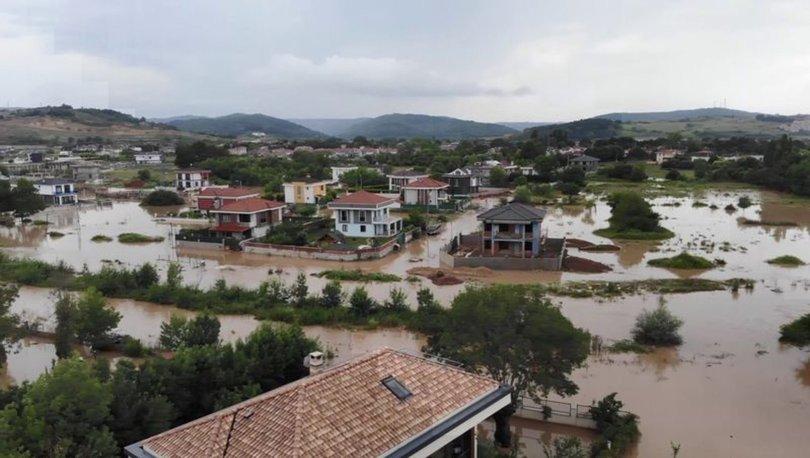 İstanbul Şile'de yoğun yağış etkili oldu.. Bazı mahalleleri sel bastı - Haberler