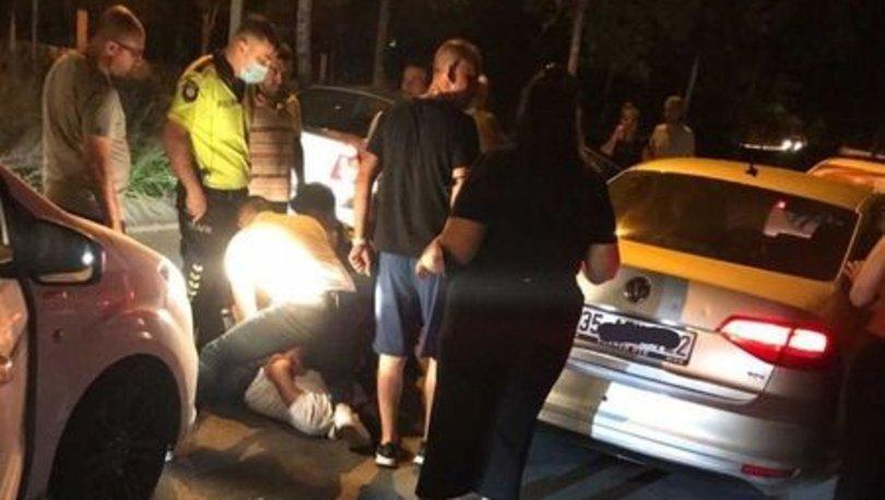 Polise saldıran alkollü sürücüye biber gazı