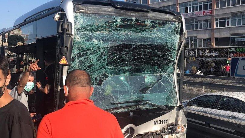 YARALILAR VAR! Son dakika: Metrobüs metrobüse çarptı: 24 yaralı! - VİDEO HABER!
