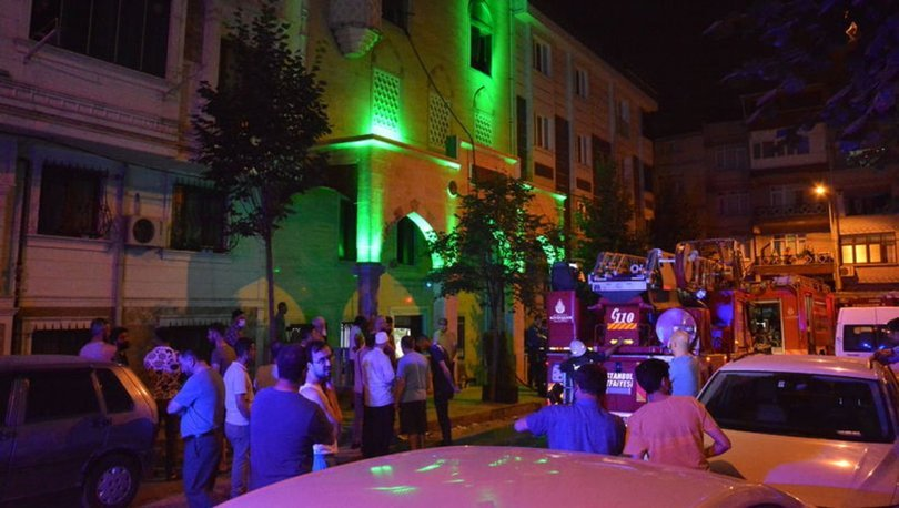 Gaziosmanpaşa'da Kur'an kursunda çıkan yangın korkuttu