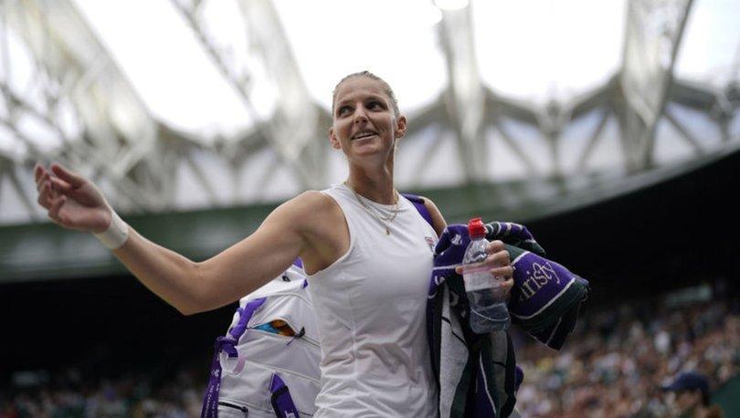 Wimbledon'da tek kadınların ilk yarı finalisti Karolina Pliskova