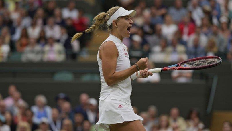 Wimbledon'da Sabalenka ve Kerber yarı finalde