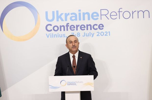Bakan Çavuşoğlu, Dördüncü Ukrayna Reform Konferansı'nda konuştu