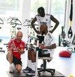 Yeni sezon çalışmalarını sürdüren Beşiktaş, günün ilk idmanını salonda gerçekleştirdi