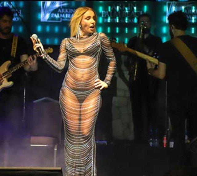 GECEYE DAMGA VURDU! Gülşen'in transparan kıyafeti olay oldu! - Magazin haberleri