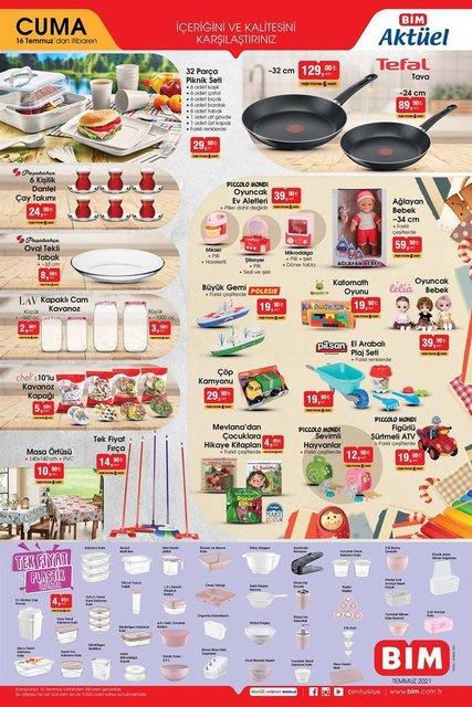 16 Temmuz BİM aktüel ürünler kataloğu! BİM haftanın indirimli ürünler listesi