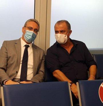 Galatasaray Teknik Direktörü Fatih Terim ve Arda Turan, Yunanistan
