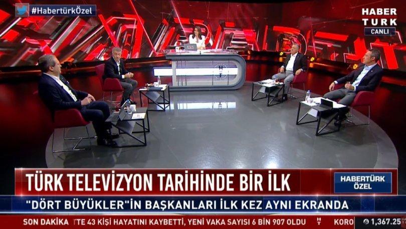 Habertürk TV'de tarihi zirve: 4 büyük kulüp başkanı bir araya geldi