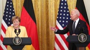 Biden-Merkel görüşmesi: 'Kuzey Akım 2 projesinde fikir ayrılıkları sürüyor'