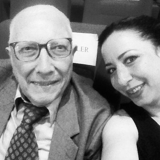 Yönetmen Mehmet Ekrem Dinler ile kızı Ayşe Nil Dinler