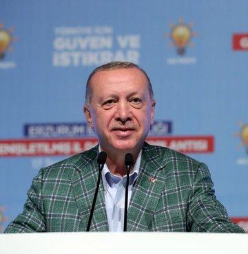 Cumhurbaşkanı Recep Tayyip Erdoğan, Erzurum