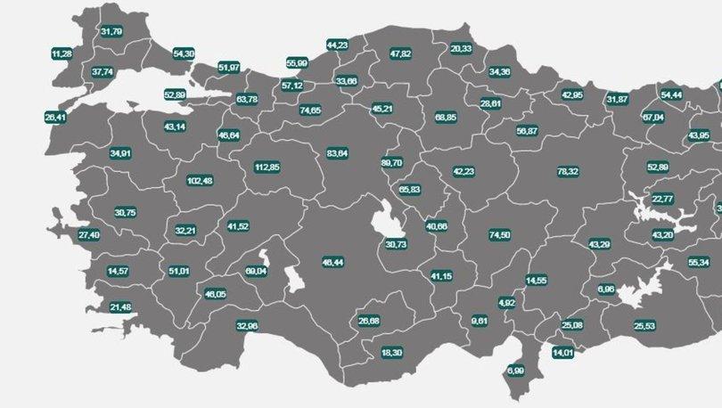 İl il risk haritası 19 Temmuz 2021! Türkiye risk haritasına göre düşük, orta, yüksek ve çok yüksek riskli ille