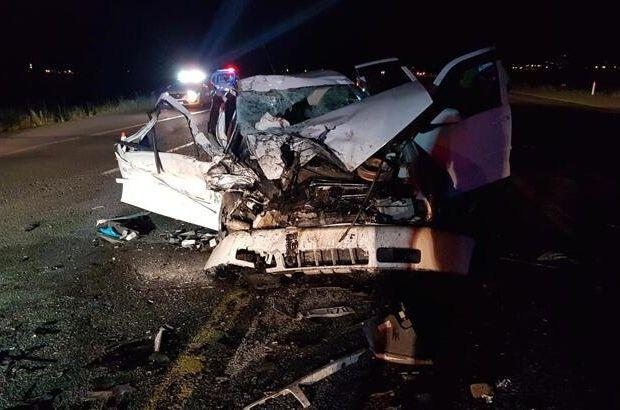Kurbanlık taşıyan kamyonetle otomobil çarpıştı: 1 ölü, 3 yaralı
