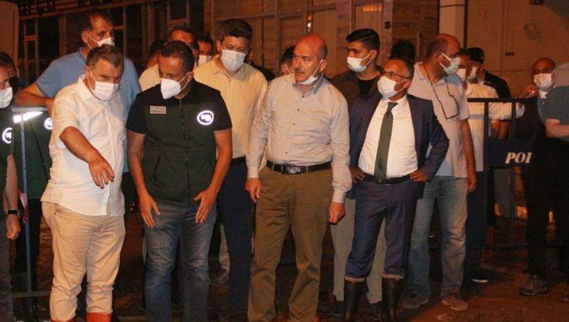İçişleri Bakanı Süleyman Soylu, Güneysu ilçesinde incelemelerde bulundu: