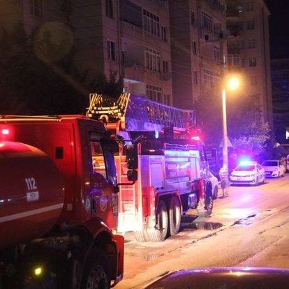 Sahibinin tatilde olduğu daire yandı, sitedeki 50 kişi tahliye edildi