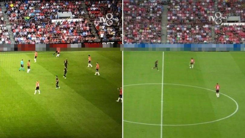 PSV Eindhoven-Galatasaray maçı neden kesildi? Maç yayınında yasa dışı bahis reklamı