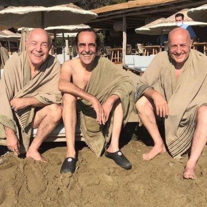 MFÖ'den plaj pozu: 20 yıl sonra ilk defa üçümüz birlikte yüzdük - Magazin haberleri