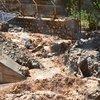 HES santralini besleyen sulama kanalı patladı