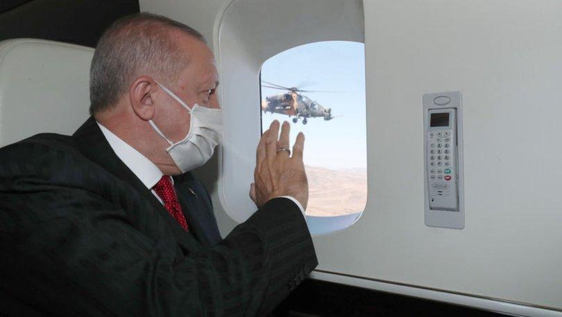 Cumhurbaşkanı Erdoğan'ğı taşıyan helikopter hava muhalefeti nedeniyle Rize'ye iniş yaptı