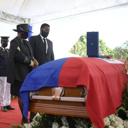 Suikast sonucu öldürülen Haiti Devlet Başkanı Moise için cenaze töreni düzenlendi