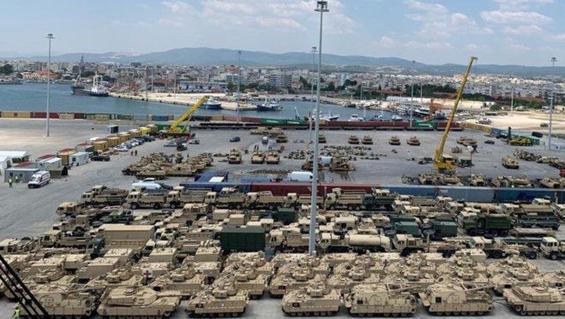 SON DAKİKA: ABD'den Dedeağaç'a yüzlerce tank ve zırhlı araç sevkiyatı!