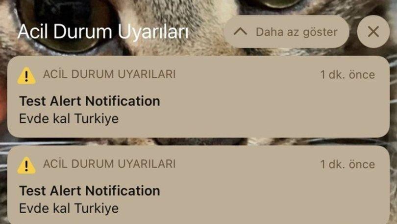 Test Alert Notification nedir? iPhone acil durum Evde Kal Türkiye uyarısına tepki!