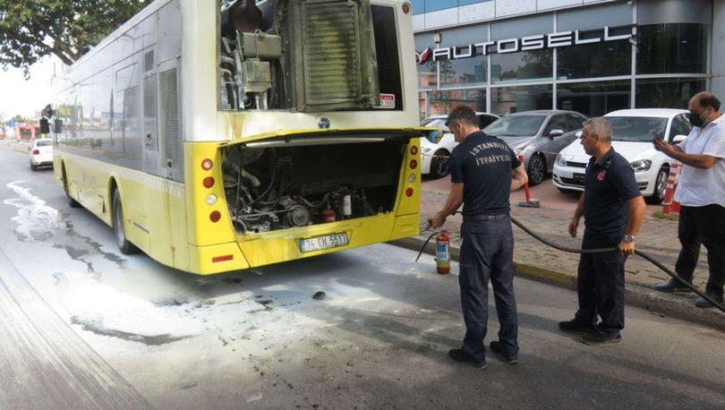 Son dakika: Ataşehir'de belediye otobüsü yandı