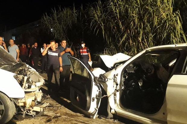 Aydın'da iki otomobil çarpıştı: 1 çocuk öldü, 7 yaralı