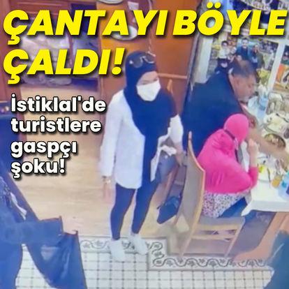 İstiklal Caddesi'nde turistlere gaspçı şoku!