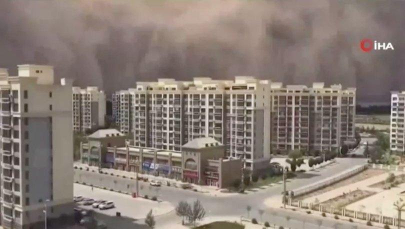 SON DAKİKA: Çin'i kum fırtınası vurdu