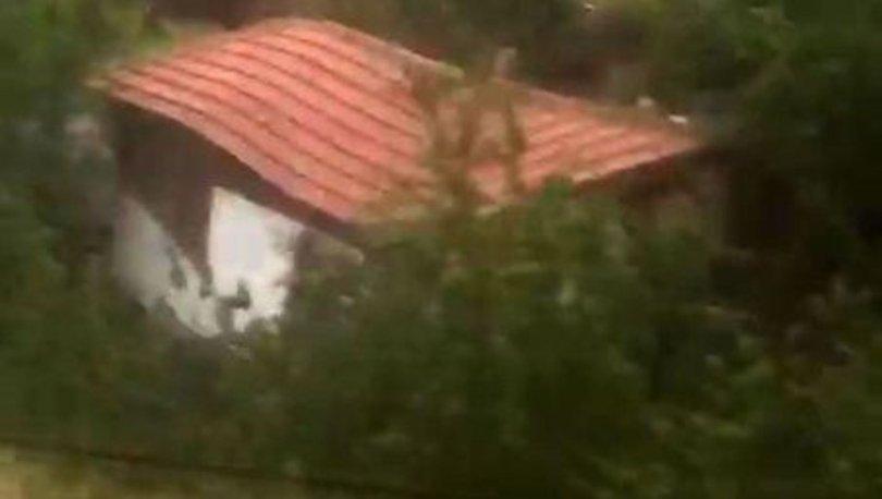 Amasya'da sel bir evi böyle yıktı - Haberler