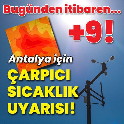 Antalya'ya çarpıcı sıcaklık uyarısı!