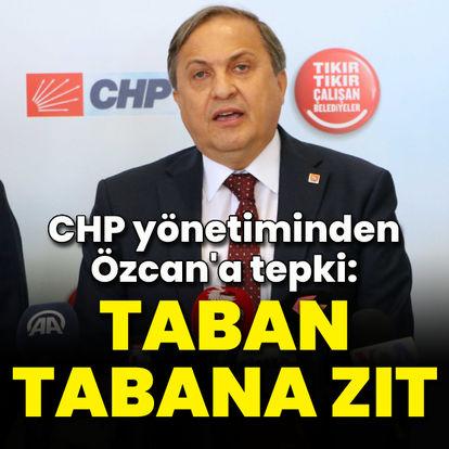 CHP yönetiminden Özcan'a tepki